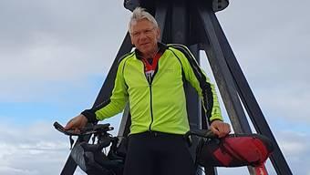 Knapp drei Wochen benötigte Ulrich Bächli vom Nordkap bis an den Bodensee.