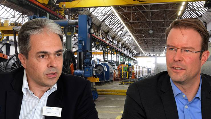 Samuel Ansorge (links) ist CEO der Brugg Cables, Stephan Wartmann ist CEO der Gruppe Brugg.