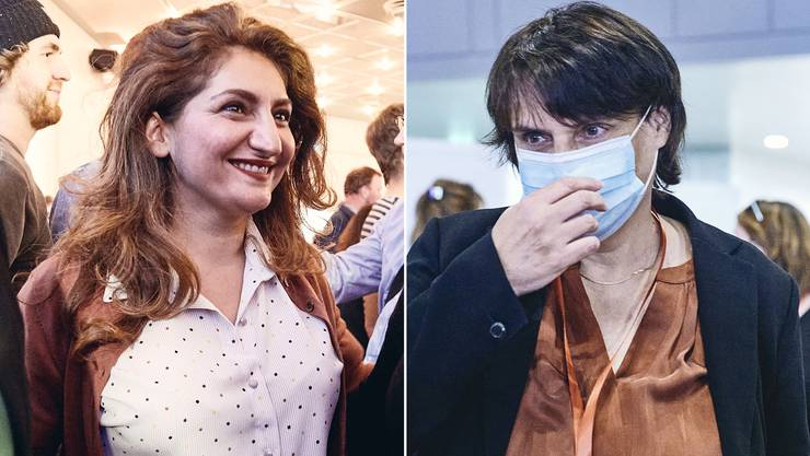 Sibel Arslan (l) möchte Elisabeth Ackermann unterstützen, schliesst eine eigene Kandidatur aber auch nicht aus.