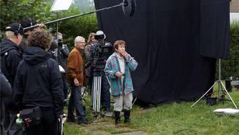 In Zürich dreht die Solothurnerin Monica Gubser zusammen mit Regisseur Rolf Lyssy den Film «Die letzte Pointe». zvg