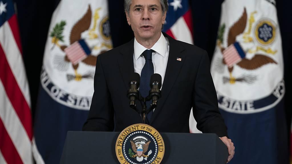 ARCHIV - Antony Blinken, Außenminister der USA. Foto: Evan Vucci/AP/dpa