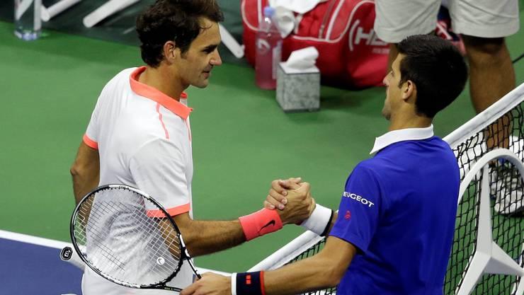 Diesen Handschlag haben Tennis-Anhänger mittlerweile 42 Mal gesehen, davon 14 Mal an Grand-Slam-Turnieren.