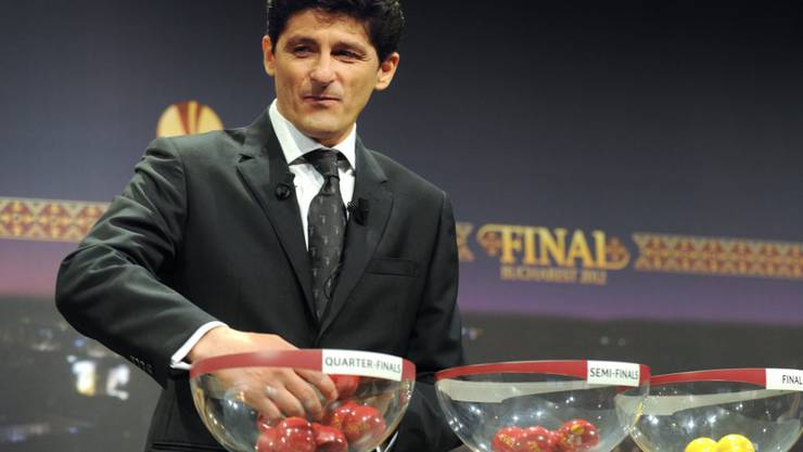 Miodrag Belodedici während einer Europa-League-Auslosung im März 2012