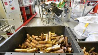 Der Export von Rüstungsgütern – wie Patronen der Firma Saltech in Däniken und Dulliken – gibt zu reden.Bruno Kissling