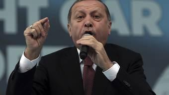 """Der türkische Präsident Recep Tayyip Erdogan hat es auf eine wenig schmeichelhafte Rangliste geschafft: Die Organisation """"Reporter ohne Grenzen"""" zählt ihn neu zum """"Feind der Pressefreiheit"""". (Archivbild)"""
