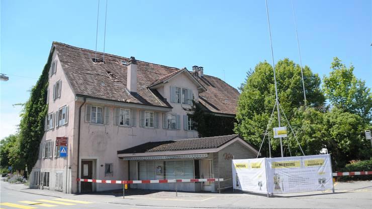 Die ehemalige Bäckerei Kuhn am Postplatz wird abgebrochen. Toni Widmer