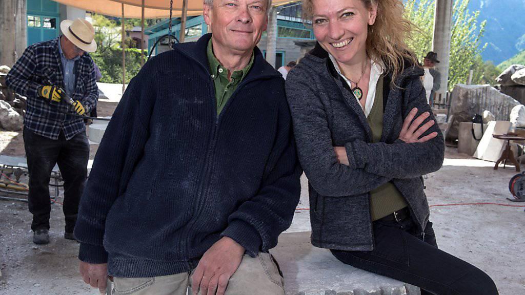 Alex Naef und Almute Grossmann-Naef haben das Projekt des Internationalen Bildhauerzentrums in Peccia erdacht - bis 2019 soll es nun Realität werden.