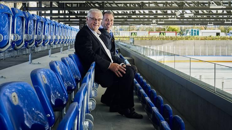 Ein Meilenstein: Die Vorfreude ist spürbar bei Gemeindeammann Roland Kuster (l.) und Tägi-CEO Marco Baumann.