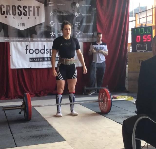 Der Weltrekord von Nora Jäggi in der Kategorie Kreuzheben: 170kg