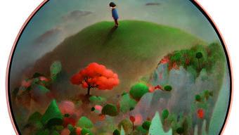 Romantisch, fast naiv stellt die Künstlerin Chen Ke in «Little Road» von 2009 ein kleines Mädchen in eine idealisierte Landschaft.