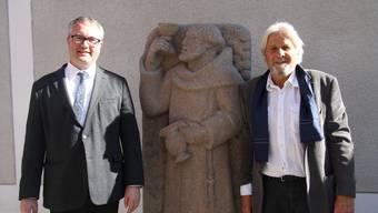 Einweihung Skulptur «Der letzte Franziskaner»