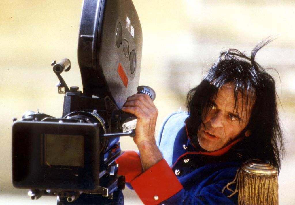 "Klaus Kinski während den Dreharbeiten für ""Kinski Paganini"", 1987"