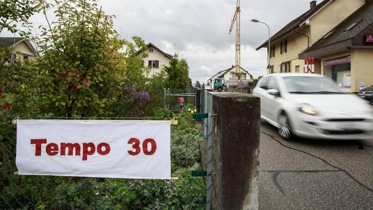 Tempo 30 soll auf der Bleichenbergstrasse eingeführt werden. (Archiv)
