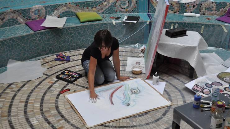 Tag der Maler im Bruno-Weber-Park: Martina Graf ist eine der Künstlerinnen, die an diesem Tag ihre Werke zeigte.