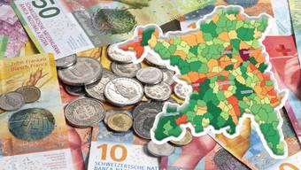 140 Aargauer Gemeinden erhalten nächstes Jahr Finanzausgleichsbeiträge in der Höhe von rund 90 Millionen Franken.