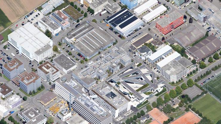 Neben dem Actelion-Gebäude in Allschwil wird der neue Innovationspark entstehen.