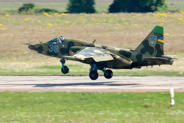 Die Ukrainische Regierung behauptet, die beiden Kampfjets seien von russischer Seite aus abgeschossen worden. (Archivbild)