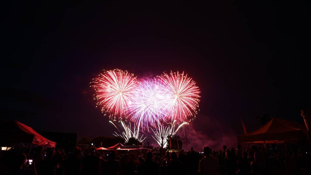 Das obligatorische Feuerwerk durfte auch dieses Jahr nicht fehlen.