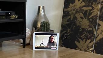 Mit Zoom durch die Krise: Kim Giaquinto von Hanuman Yoga unterrichtet digital.