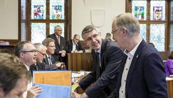 Sepp Maushart (Mitte) hielt sich bei der gestrigen Kantonratssitzung nicht zurück.