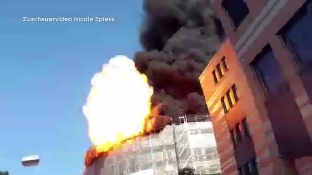 Explosionen und Grossbrand in Olten