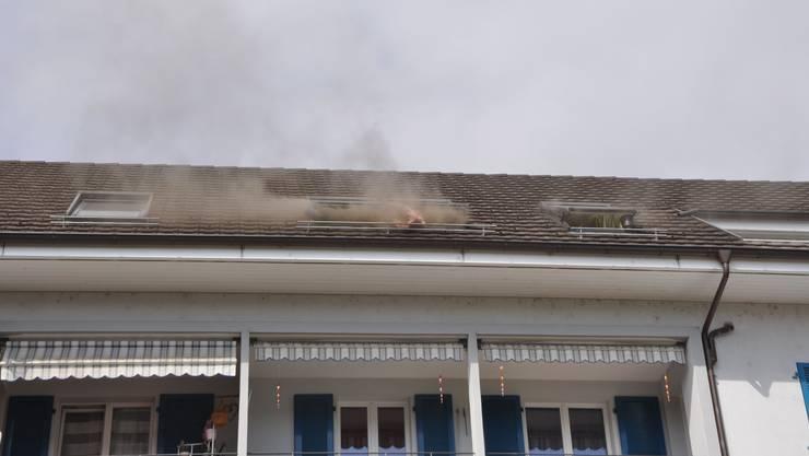 In Wangen bei Olten kam es am Mittwoch zu einem Brand in einer Dachwohnung. Verletzt wurde niemand.