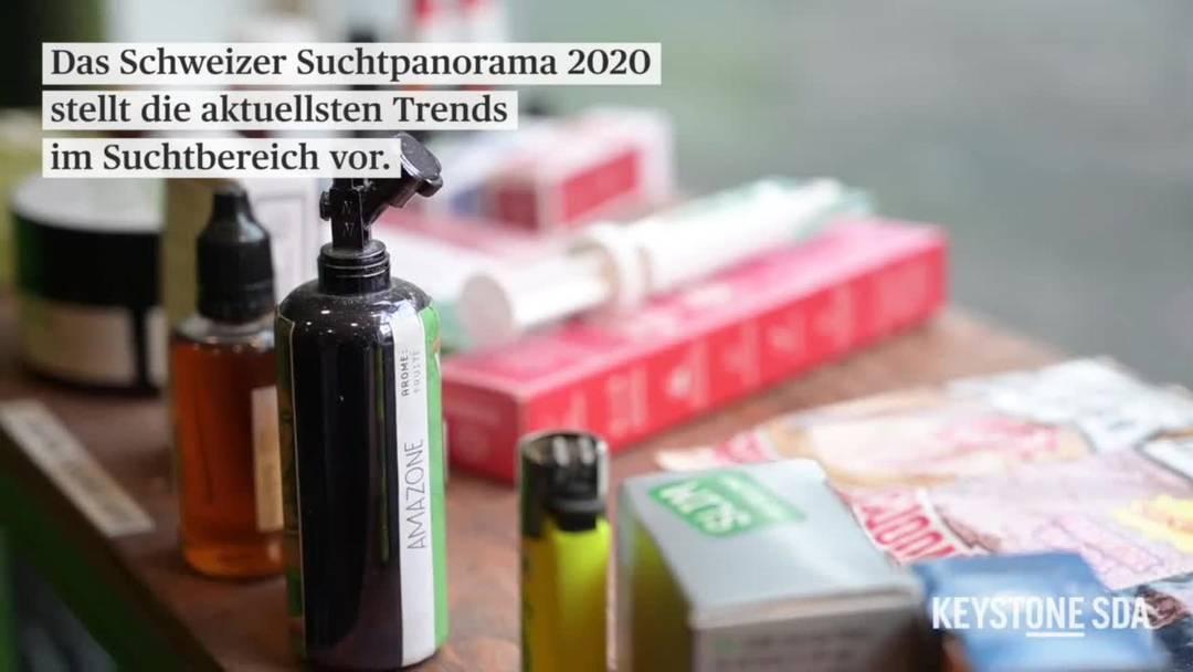"""Das """"Schweizer Sucht Panorama"""" 2020 zeigt die neuesten Trends bei Suchtmitteln"""