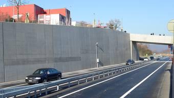 Die A 22 zwischen Pratteln und Liestal kurz nach deren Eröffnung Ende 2013.