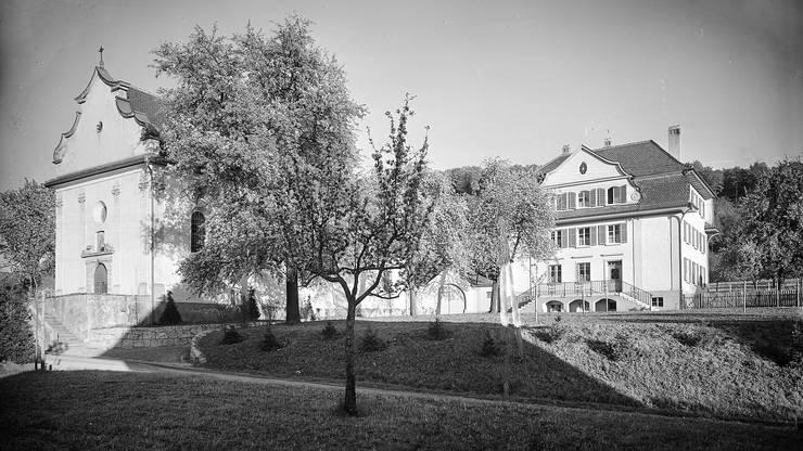 Die Kapelle Mariawil im Sommer, um 1910.