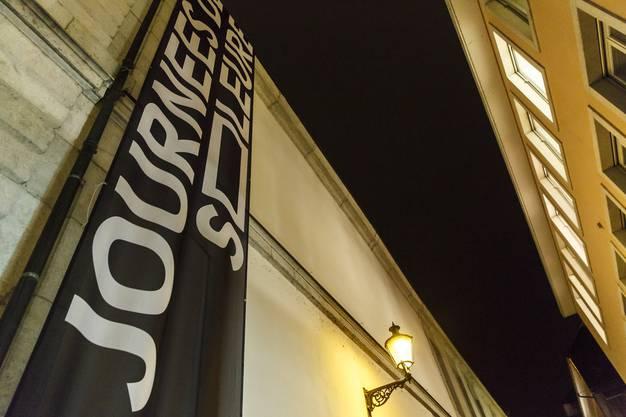 Ein Banner der Solothurner Filmtage