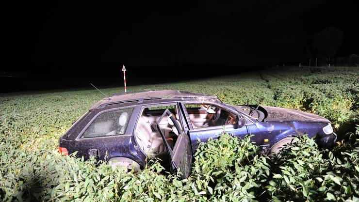 Das Unfallauto in Berg am Irchel