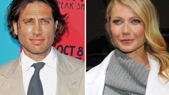 Gwyneth Paltrow (r) hat Ende September 2018 zum zweiten Mal geheiratet: den US-TV Produzenten Brad Falchuk (l), (Archiv)