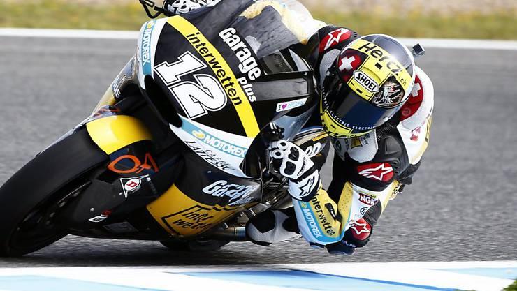 Tom Lüthi war auch im Qualifying zum GP von Katalonien schnellster Schweizer