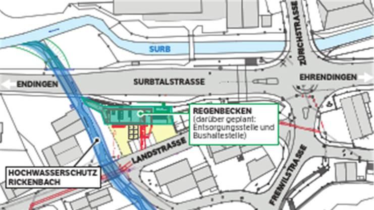 Ab April wird der Rickenbach verbreitert – dazu wird die Surbtalstrasse für einige Tage gesperrt