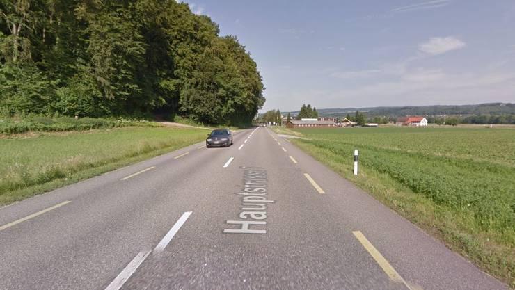 Die Strasse zwischen Leibstadt und Schwaderloch, auf welcher der Raser unterwegs war.