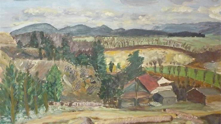 «Steinbruch bei Laufen» von Alfred Glauser (1908–2000). Fotos: zvg