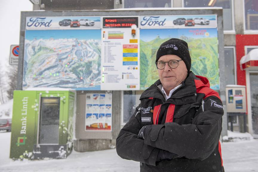 Heinrich Michel, Geschäftsführer der Bergbahnen Flumserberg (Bild: Urs Bucher/Tagblatt)