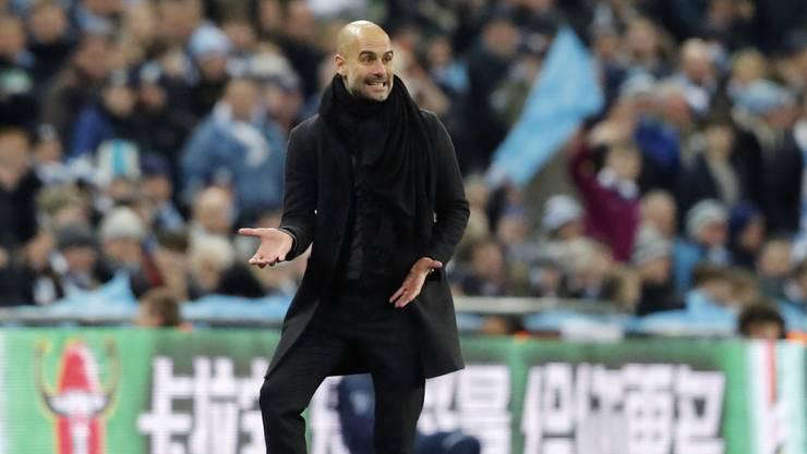 Pep Guardiola ist mit der Leistung seines Teams nicht zufrieden.