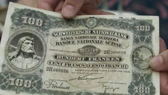 Hat heute grossen Sammlerwert: die 1918 von der Nationalbank ausgegebene 100-Franken-Note. (Archivbild)