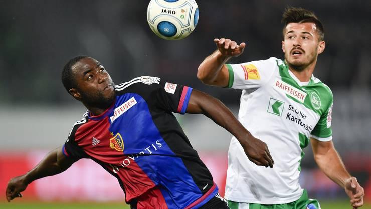 Im letzten Aufeinandertreffen waren beide noch mit dabei, im Spiel vom Samstag fehlen sowohl Basels Eder Balanta (Rückenprobleme) als auch St. Gallens Albian Ajeti (Sperre).