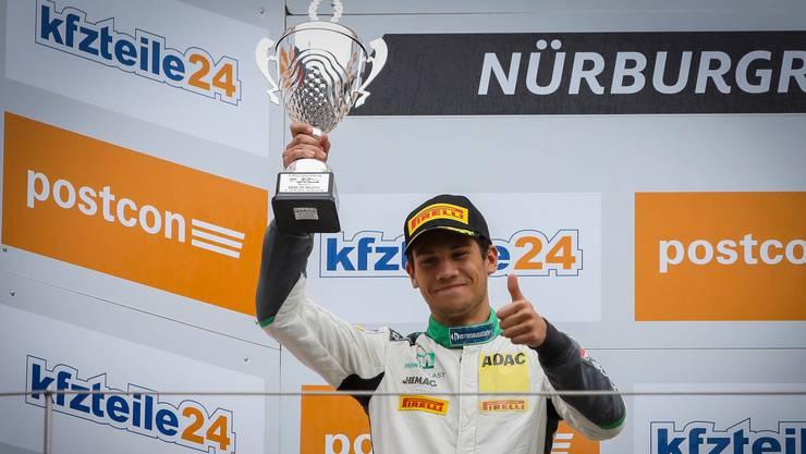 Der 19-jährige Ricardo Feller durfte zusammen mit «Land Motorsport» mehrere Erfolge in der ADAC-GT-Masters-Saison feiern.