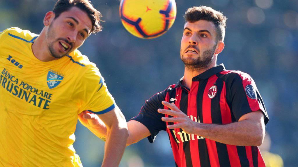 Patrick Cutrone (rechts) war Milans Matchwinner in Genua