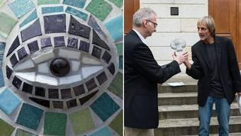 Die Eule wurde gestiftet von der Bruno-Weber-Stiftung und symbolisiert Weisheit.