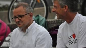 Hanspeter Hilfiker (links) nimmt am «Lauf der Herzen» teil. (Archiv)