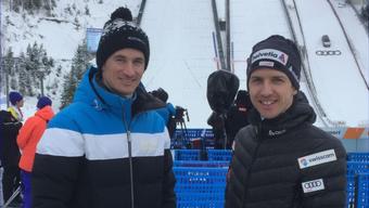 Martin Schmitt (l.) und Simon Ammann sind über den Sport hinaus verbunden.