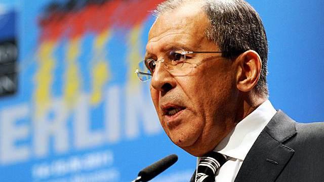 Der russische Aussenminister Lawrow am NATO-Gipfel in Berlin