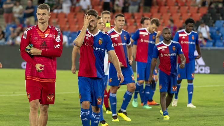 Die Mannschaft nach der Niederlage gegen PAOK.