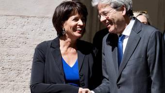 Bundespräsidentin Doris Leuthard und Italiens Regierungschef Paolo Gentiloni am Freitag in Rom.