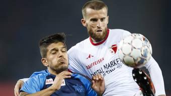 Der FC Zürich (mit Torschütze Roberto Rodriguez) und Sion (mit Ermir Lenjani) trennen sich 1:1 unentschieden