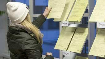 Junge Arbeitslose informiert sich im Regionalen Arbeitsvermittlungszentrum (Archiv)